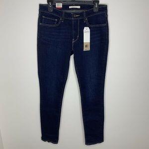 NWT Levi's Womens 30x30 711 Dark Wash Skinny Jeans